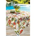 Tropical Prowess Rouge Indoor/Outdoor Print Tablecloth