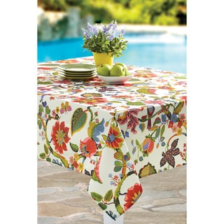 Tropical Prowess Rouge Indoor/Outdoor Print Tablecloth (Multiple Sizes Available)