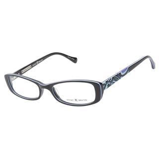 Lucky Abbey Black Teal Purple Prescription Eyeglasses