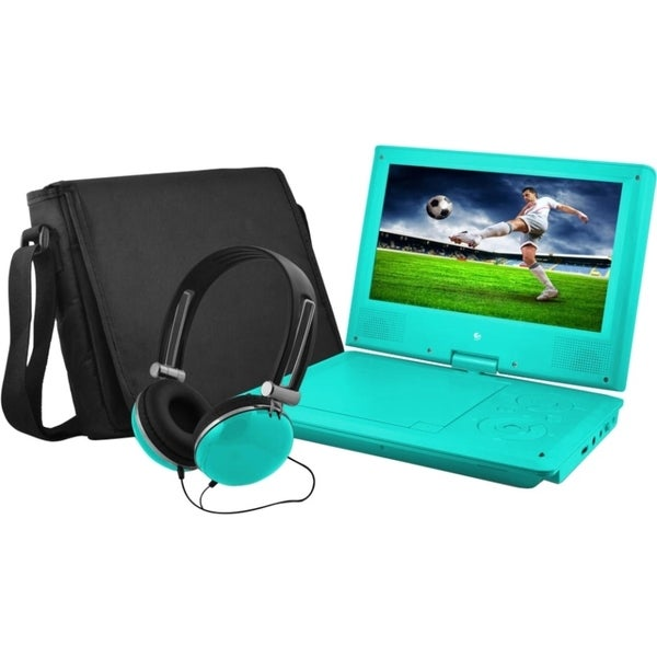 "Ematic EPD909 Portable DVD Player - 9"" Display - 640 x 234 - Teal 12450353"