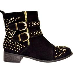 Women's Wild Diva Break-7 Black Faux Suede