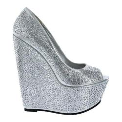Women's Wild Diva Cecilia-1 Silver Faux Leather