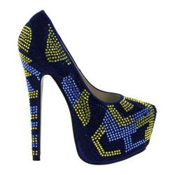 Women's Wild Diva Estina-6 Royal Blue Faux Leather