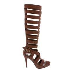 Women's Wild Diva Italy-20 Tan Faux Leather