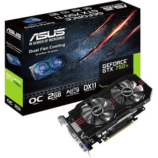 Asus GTX750TI-OC-2GD5 GeForce GTX 750 Ti Graphic Card - 1072 MHz Core