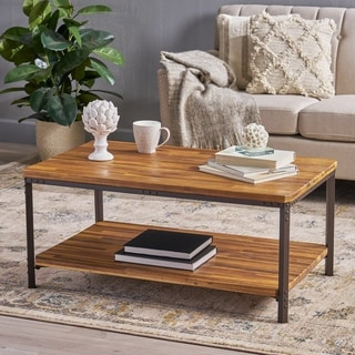 Christopher Knight Home Ryder Sandblast Wood Finish Accent/Coffee Table