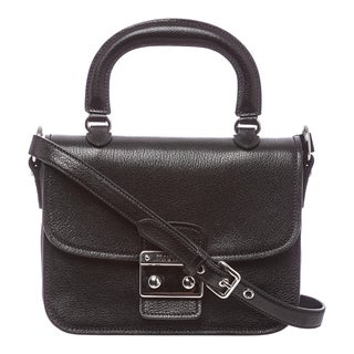 Miu Miu 'Madras' Black Textured Leather Shoulder Bag