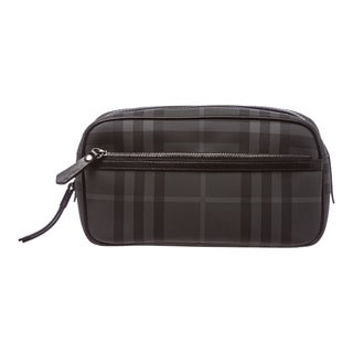 Burberry Charcoal Check Washbag