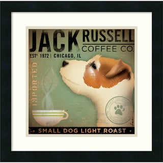 Stephen Fowler Jack Russell Coffee Co. 18x18-inch Framed Art Print