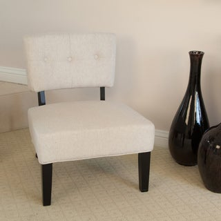 Griffin Beige Fabric Accent Chair
