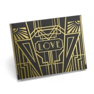 Hortense B. Hewitt Art Deco Black/ Gold Guest Book