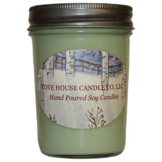 Scented Light Green 8-ounce Jelly Jar Soy Candle