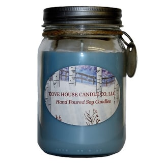 Scented Blue 16-ounce Canning Jar Soy Candle