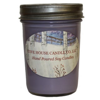 Scented Purple 8-ounce Jelly Jar Soy Candle - 8 oz 16135264