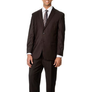 Caravelli Italy Men's 'Superior 150' Brown 2-button Suit
