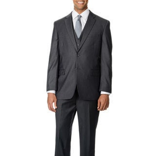 Caravelli Italy Men's 'Superior 150' Grey 3-piece Vested Suit