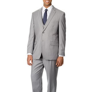 Caravelli Italy Men's Light Grey Vested 2-button Suit