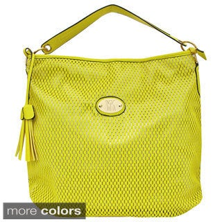 Yoki Laser-cut Tassel Accent Shoulder Bag
