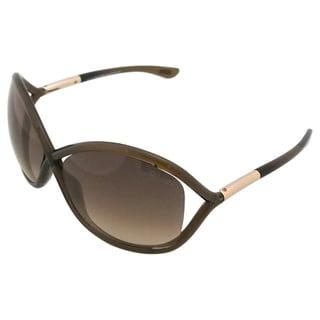 Tom Ford Women's 'TF009 Whitney 692' Brown Plastic Fashion Sunglasses