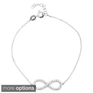 La Preciosa Sterling Silver CZ Infinity Bracelet