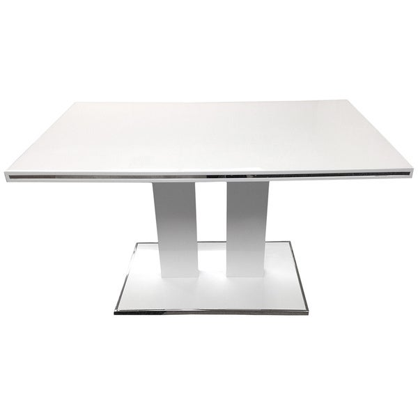 Amanda White/ Chrome Dining Table Top