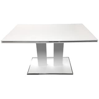 Amanda White/ Chrome Dining Table
