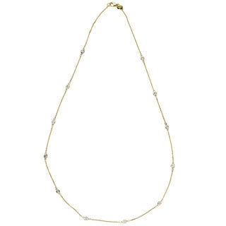Neda Behnam DFAC 14k Yellow Gold 1/2ct TDW Diamond Station Necklace (G-H, SI1-SI2)