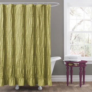 Lush Decor Emily Green Shower Curtain
