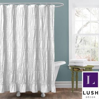 Lush Decor 'Emily' White Shower Curtain