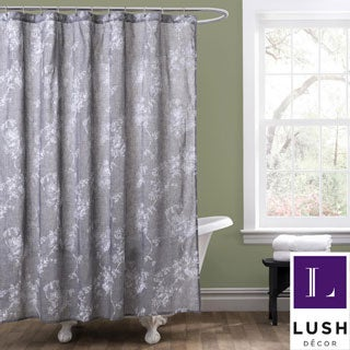 Lush Decor 'Ezra' Grey/ White Shower Curtain
