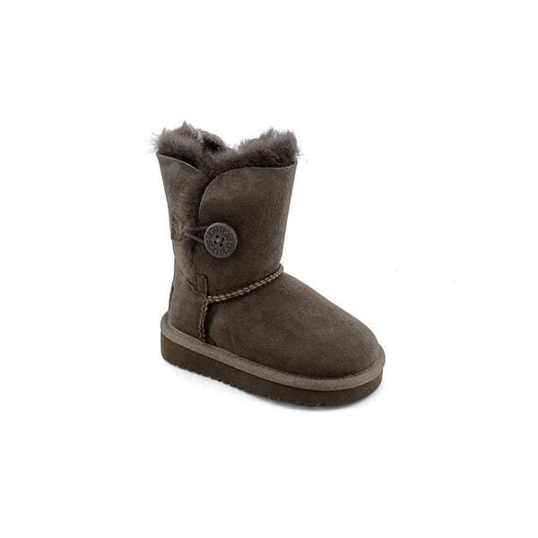 Ugg Australia Girl (Toddler) 'Bailey Button' Regular Suede Boots (Size 10 )