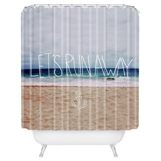 Leah Flores Let's Run Away III Shower Curtain