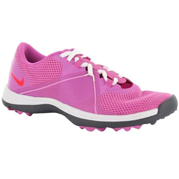 Nike Womens Lunar Summer Lite 2 Pink/ White Spikeless Golf Shoes