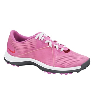 Nike Womens Lunar Summer Lite 2 Pink/ White Spikeless Golf Shoes