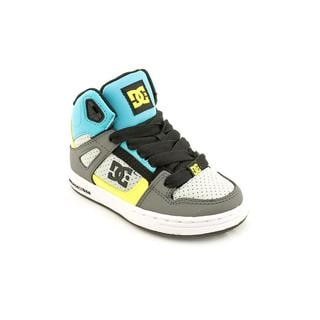 DC Boy (Youth) 'Rebound' Leather Athletic Shoe (Size 10.5 )
