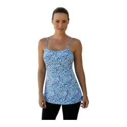 Women's Be Up Loose Top Geometric Blue