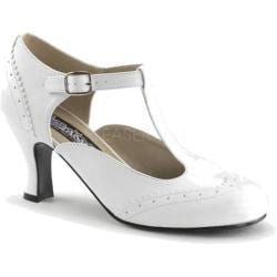 Women's Funtasma Flapper 26 White PU