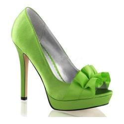 Women's Fabulicious Lumina 42 Pump Apple Green Satin