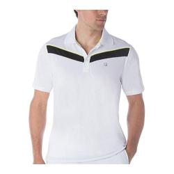 Men's Fila Suit Up Chevron Polo White/Black/Safety Yellow
