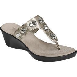 Women's Aerosoles Yespresso Silver Metallic Faux Leather