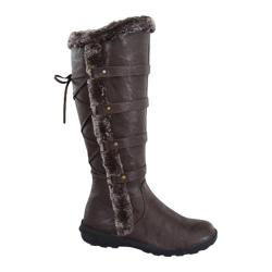 Women's Wild Diva Aura-42 Fur Boot Brown Faux Leather