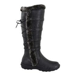Women's Wild Diva Aura-42 Fur Boot Black Faux Leather