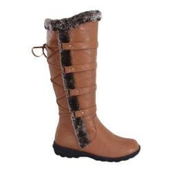 Women's Wild Diva Aura-42 Fur Boot Tan Faux Leather