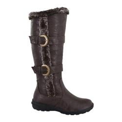 Women's Wild Diva Aura-43 Fur Boot Brown Faux Leather
