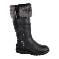 Women's Wild Diva Aura-47 Fur Boot Black Faux Leather