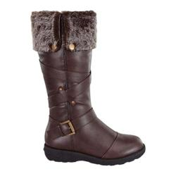 Women's Wild Diva Aura-47 Fur Boot Brown Faux Leather