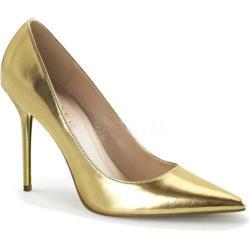 Women's Pleaser Classique 20 Pump Gold Metallic PU
