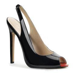 Women's Pleaser Sexy 08 Slingback Black Patent