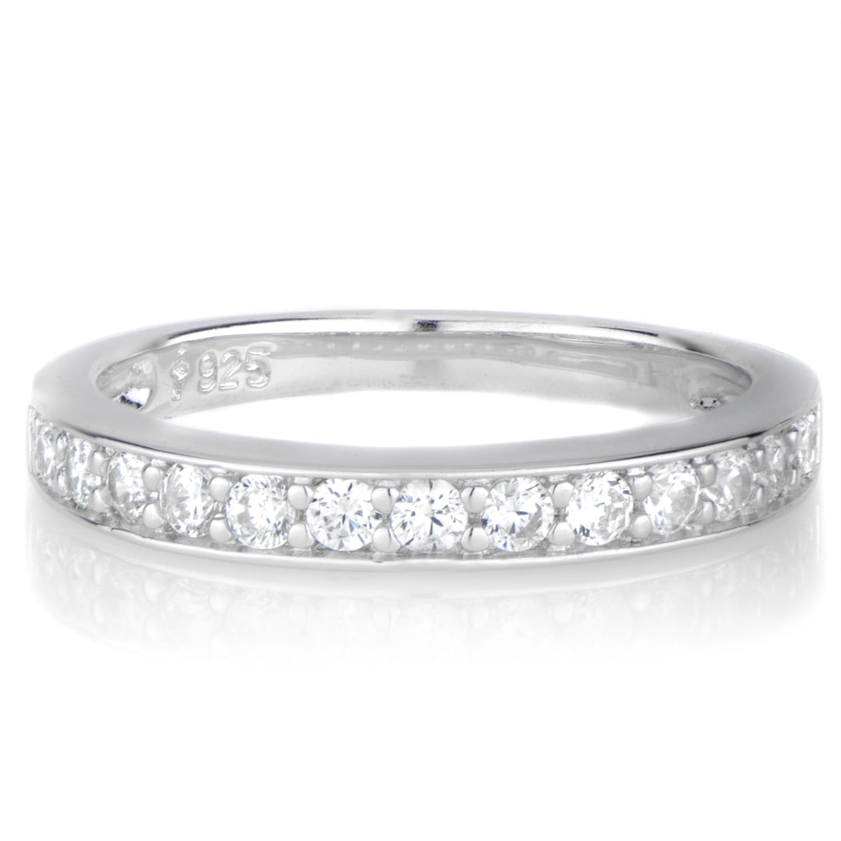 Sterling Silver Cubic Zirconia Ring Guard