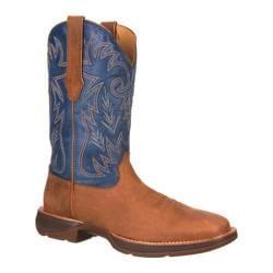 Men's Durango Boot DWDB035 12in Ramped-Up Rebel Distressed Brown/Blue Full Grain Leather